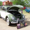 #0111 - 1955 Beetle (Green and Cream Oval)