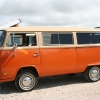 #1102 - 1979 Bay Window Bus (Orange/Tan)
