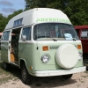 #1302 - Bay Window Bus Camper (Birch and White Camper)