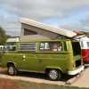THE HULK (#1303) - 1977 Bay Window Bus Camper (Camper Sage Green)