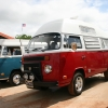 Clyde (#1307) - 1973 Bay Window Bus Camper (Red and White)