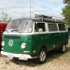 bulli (#1309) - 1972 Bay Window Bus Camper (Green/White)