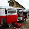 Lil Bus RAWR!!! (#1311) - 1969 Bay Window Bus Camper (Red and White)