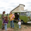 #1318 - 1976 Bay Window Bus Camper (Sage Green Westy)