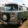 Otto (#1324) - 1977 Bay Window Bus Camper (Jade and White)