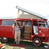 Freda (#1325) - 1973 Bay Window Bus Camper (Red Westfalia)
