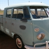#0904 - 1966 blue-ish Bus (Split Window) Double Cab