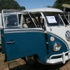 Zoli (#0909) - 1967 Sea Blue / Cumulus White Bus (Split Window)