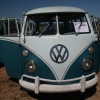 #1006 - 1965 Blue and White Bus (Split Window)
