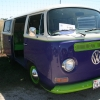 Penelope (#1103) - 1969 Purple and Lime Green Bus (Bay Window)