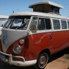 Cruel Buford (#1206) - 1965 White/sealing wax red Bus (Split Window) Camper