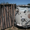 #1211 - 1960 light Gray Bus (Split Window) Camper