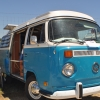 #1301 - 1971 White/Pacific Blue Bus (Bay Window) Camper (Poptop Westfailia)