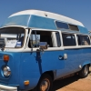Bluto (#1311) - 1974 Orient Blue Bus (Bay Window) Camper (He's a Safare' Custom Camper.)
