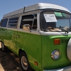 Skittles (#1319) - 1978 green/white Bus (Bay Window) Camper (1978 green/white camper bus)