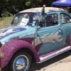 Stereotype One (#2225) - 1961 Blue, with purple gravel covered fenders, gravel flames Beetle