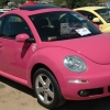 original barbie  (#2412) - 2007 pink New Beetle