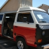 #2510 - 1985 Red and White Vanagon Camper
