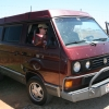 #2512 - 1990 Bordeaux Red Metallic Vanagon