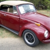 Fire Bug (#0803) - 1972 maroon w/ tan top Beetle (Late Model/Super) Convertible