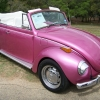 Summerdaze (#0812) - 1972 raspberry Beetle (Late Model/Super) Convertible