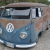 #1011 - 1960 Dove Blue Bus (Split Window)