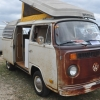 rusty (#1319) - 1973 White and Rust Bus (Bay Window) Camper