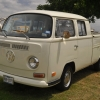 Big V (#1402) - 1971 Pastel White Bus (Bay Window) Double Cab