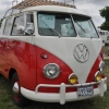 Vic's DCab (#1415) - 1959 Red and White Bus (Split Window) Double Cab