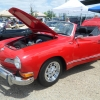 Poor Man's Porsche (#1605) - 1973 Candy Apple Red with black top Karmann Ghia Convertible