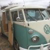 nellie ix (#0906) - 1964 pearl white / turkis Bus - Split Window (panel converted to camper)