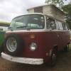 Alice (#1107) - 1970 Red with White roof Bus - Bay Window