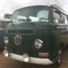 #1114 - 1970 green and white Bus - Bay Window