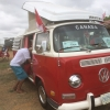 Pumper (#1304) - 1972 Red and White Bus - Bay Window Camper