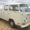 Big V (#1405) - 1971 White Bus - Bay Window Double Cab (Daily Driver)