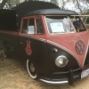 #1408 - 1962 black/red Bus - Split Window Single Cab (hoops canvas logoed patina)