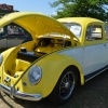 #0114 - 1955 yellow/white Beetle - Split/Oval