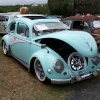 #0105 - 1956 Custom mint with flat white Aussie trim Beetle - Split/Oval