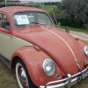 #0324 - 1958 Coral red/Kansas Beige Beetle