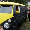 Chalk Star Bus (#1107) - 1966 Black / Yellow Bus - Split Window
