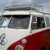 STEVE CHAMBERLAIN (#1303) - 1967 red and white Bus - Split Window Camper