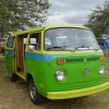 Cricket (#1414) - 1973 Two Tone Green Bus - Bay Window Camper