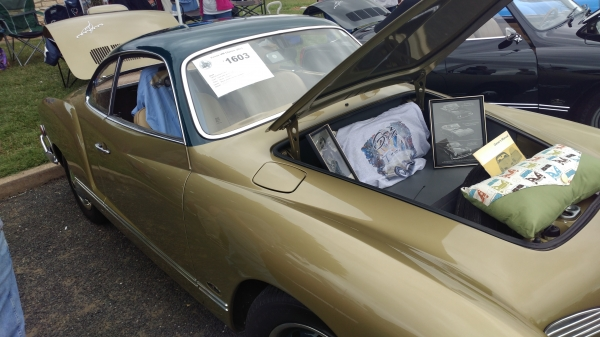 Greta (#1603) - 1969 Gold with green roof Karmann Ghia