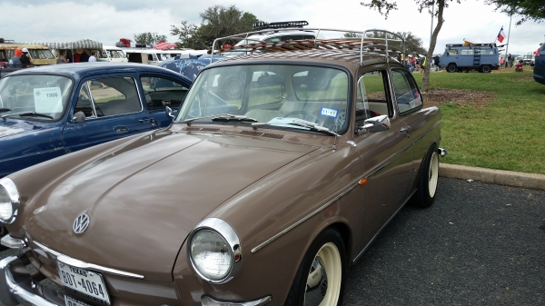 vw nothback (#1904) - 1964 nutria brown Type 3 Notchback (stock)