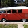 Pete (#1003) - 1965 Rusty Red Bus (Split Window) (Rat Rod VW Bus with Rust)