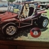 charley's Toy (#1903) - 1972 Maroon Fiberglass Buggy